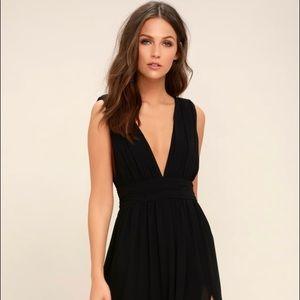 Black lulus long dress